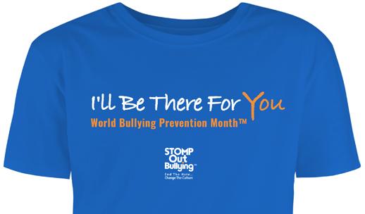 World Bullying Prevention Month Blue Shirt
